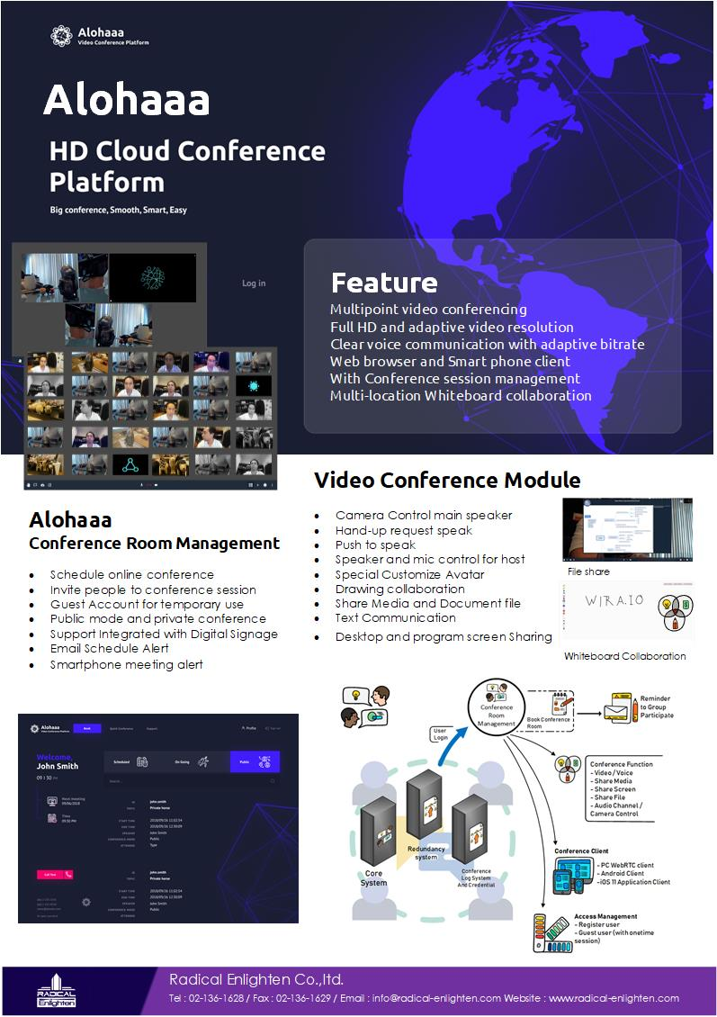 Alohaa – Online video conference platform